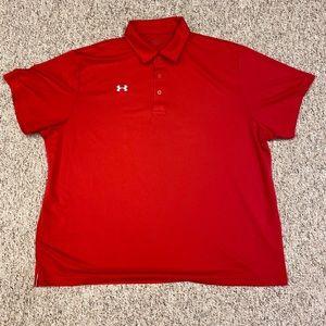 Under Armour Red Heatgear 3XL Dri Fit Polo Shirt
